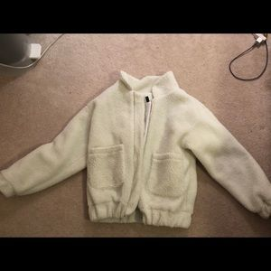 Zaful White Fuzzy Coat